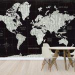 世界地図の壁紙おすすめ11選!おしゃれなお部屋に変更
