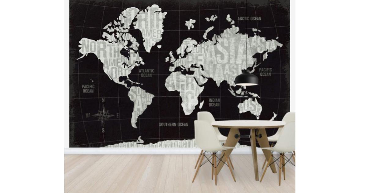 世界地図の壁紙おすすめ11選 おしゃれなお部屋に変更 ウォール